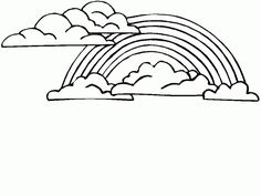 Printable rainbow coloring page Free PDF download at http