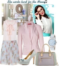 """""""Pastels for the Office"""" by yolandamorales on Polyvore"""