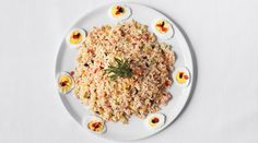 From The Splendid Table, the show for curious cooks and eaters. *Contessa's (Dressed) Rice Salad w. Main Dish Salads, Rice Salad, Barbecue Recipes, Salad Recipes, Rice Recipes, Recipies, Fresh Vegetables, Veggies, Rice Dishes