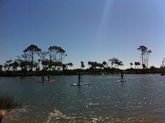 Kayaking and Paddle Boarding at Hunting Island Lagoon, Beaufort SC