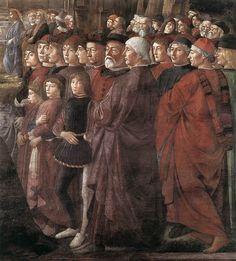 ❤ - DOMENICO GHIRLANDAIO (1449 - 1494) - Calling of the Apostles, detail - 1481. Fresco | Cappella Sistina, Vatican.