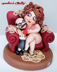 Viva the love in all its forms. Beautiful Cakes, Amazing Cakes, Biscuit, Fondant Animals, Funny Cake, Cakes For Women, Fondant Toppers, Cake Decorating Techniques, Novelty Cakes