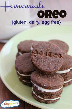 Gluten, Egg, Dairy free homemade oreo recipe