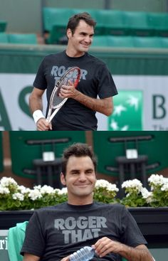 #Federer French Open fashion: RF enjoyed his practice at Roland Garros today in HIS nike tennis shirt