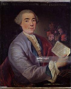 Portrait of Filippo Elisi 1732-1770, Italian castrato, by Sebastiano Ceccarini 1703-1782. Oil on canvas, 74.4 x 62 cm, 18th century. Civico Museo Bibliografico Musicale, Bologna Italy.