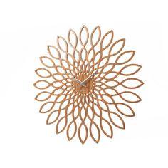 Karlsson Sunflower Wandklok - Hout - afbeelding 1