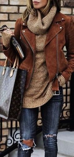 Love this jacket with a belt and the cowlneck sweater... maybe not in these colors but a great style