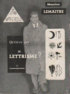 """inneroptics: """"What lettrism? P. Fischbaker, 1954 """""""