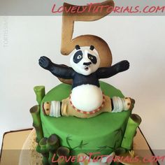 Kung Fu Panda cake topper making tutorial