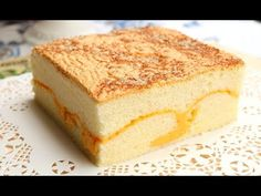 How To Make Soft Cheese Sponge Cake | Super Fluffy Castella Cake With Cheese - 古早味起司蛋糕 現烤蛋糕 棉花蛋糕 - YouTube
