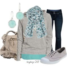 """""""mint & grey"""" by taytay-268 on Polyvore"""