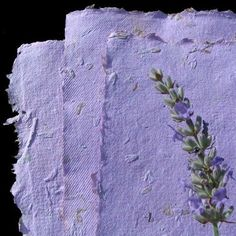 handmade paper with lavender flowers and seeds for writing thank you notes that can be recycled in the garden bed