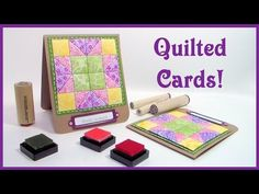 card making video tutorial: Puffy Paper Quilt Card by Lindsay Weirich . patchwork design on one piece of paper . stamped, pierced and puffed . Card Making Tips, Card Making Tutorials, Making Ideas, Video Tutorials, Paper Cards, Diy Cards, Puffy Quilt, Patchwork Cards, The Frugal Crafter