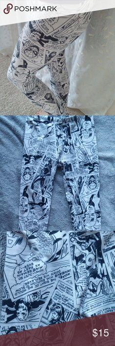 [MARVEL] Leggings Black and white Marvel Comics leggings. Marvel Pants Leggings