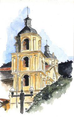https://flic.kr/p/7sVUzs   Iglesia de La Candelaria - Bogotá   Acuarela & Tinta. Watercolor & Ink. ©AML 2010