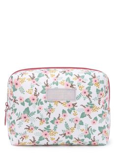 Makeup Bags by BORNTOWEAR. Calico Print Accessory Case