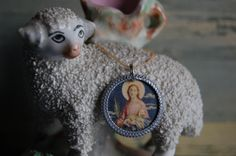 St. Agnes devotional medal - pinned by pin4etsy.com