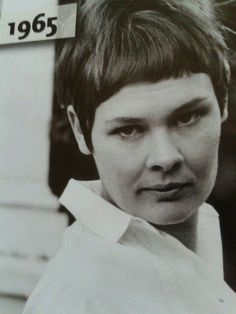 judi dench young | Judi Dench of course she is a Dame now.