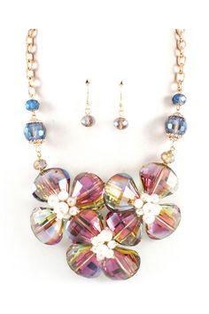 Crystal Lorelei Necklace in Vitrail on Emma Stine Limited