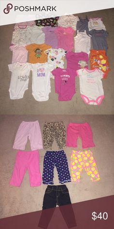 LOT OF 34 GIRL'S CLOTHING.  SIZE 9 MONTHS Good Condition.  Immediate Shipment.  Please View My Other Listings For More 9M And Other Children's Clothing. CARTER'S AND MORE Other