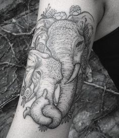 Elephant tattoo done at LONE WOLF private studio in Columbus, Ohio