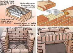 Como construir uma churrasqueira simples, churrasqueira simples como construir, churrasqueira alvenaria como construir
