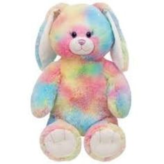 16 in. Watercolor Bunny - Build-A-Bear Workshop US Toys For Girls, Kids Toys, Custom Teddy Bear, Bear Watercolor, Build A Bear, Cute Toys, Cute Bears, Cute Bunny, Plushies