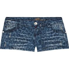 ALMOST FAMOUS Animal Print Womens Denim Shorts 193330842 | shorts | Tillys.com