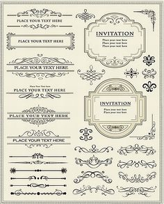 Find Vector Illustration Calligraphic Elements Page Decoration stock images in HD and millions of other royalty-free stock photos, illustrations and vectors in the Shutterstock collection. Rotulação Vintage, Vintage Logo, Vintage Labels, Vintage Design, Retro Design, Design Vector, Web Design, Vector Art, Ipad Art