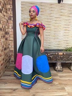 Pedi Traditional Attire, Sepedi Traditional Dresses, South African Traditional Dresses, Traditional Wedding Attire, African Maxi Dresses, Latest African Fashion Dresses, African Attire, African Wear, Modest Dresses