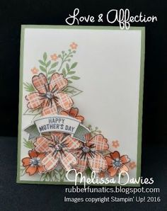Stampin' Up! Love & Affection by Melissa Davies @Melissa Davies #stampinup #rubberfunatics #loveandaffection