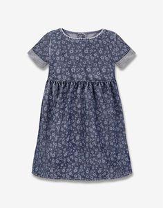 Джинсовое платье с цветочным принтом - Глория Джинс, GDR009363 | Gloria Jeans