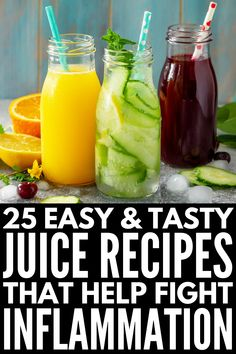 Anti-Inflammatory Juice Cleanse: 25 Juices to Reduce Inflammation – Detox Yummy Juice Recipes, Juice Cleanse Recipes, Smoothie Cleanse, Detox Recipes, Smoothie Recipes, Juicer Recipes, Cleanse Diet, Body Cleanse, Health Recipes