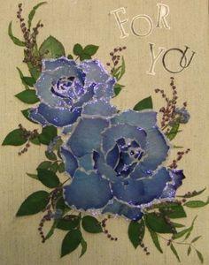 ブルーローズ - さくら 吹雪の 押し花アトリエ プチ フルール