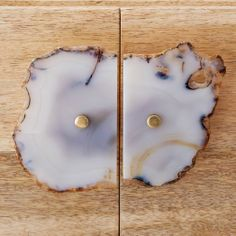 Love these agate cabinet handles