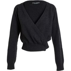 DOLCE & GABBANA Cashmere Wrap Cardigan ($985) ❤ liked on Polyvore featuring tops, cardigans, shirts, black tops, jackets, wrap cardigan, black wrap top, snap shirt, black top and black wrap shirt