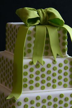 Green Polka Dot Cake...