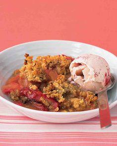 Rhubarb Crisp Recipe from Martha Stewart