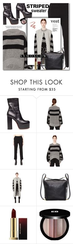 """""""Striped sweater"""" by svijetlana ❤ liked on Polyvore featuring Vetements, Haider Ackermann, Maison Margiela, Marni, Kevyn Aucoin, Edward Bess, Too Faced Cosmetics, stripedsweater, polyvoreeditorial and svmoscow"""