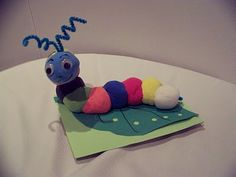 Teach kids a lesson in color mixing by creating this colorful caterpillar using Model Magic clay.