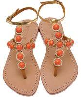 Orange Grove Jeweled Sandals Mystique Style# 1248