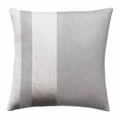 Judy Ross Textiles Hand-Embroidered Chain Stitch Avenue Throw Pillow fog/fog rayon