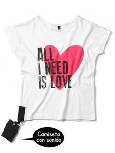 Camiseta CON SONIDO Love
