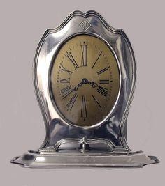 American Art Deco Sterling Clock, Reed & Barton, C.1920.