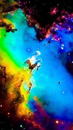 M16 The Eagle Nebula Hubble Palette Credit: NASA/Hubble, Credit/Effects thedemon-hauntedworld