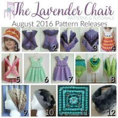 August 2016 Crochet Pattern Releases - The Lavender Chair Crochet Baby Hat Patterns, Crochet Beret, Crochet Poncho Patterns, Crochet Square Patterns, Crochet Baby Clothes, Crochet Baby Hats, Crochet Slippers, Crochet For Kids, Free Crochet