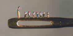 for deanna's miniatures --  dust sculpture, Hagop Sandaldjian Museum of Jurassic Techology