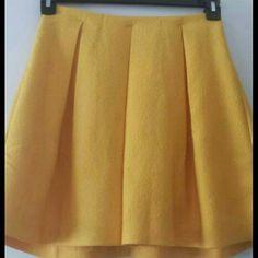 Yellow shirt Yellow short skirt H&M Skirts Circle & Skater