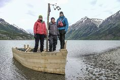 Felicity Aston Kevin Fong and Dan Snow on board their replica boat The Bloody Nose Bennett Lake Canada.   To find out more about the programme visit: http://ift.tt/2foBnu4  Photographer: Ryan Atkinson   BBC STUDIOS 2016