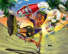 Advertising Illustration by James Shepherd | Hunie